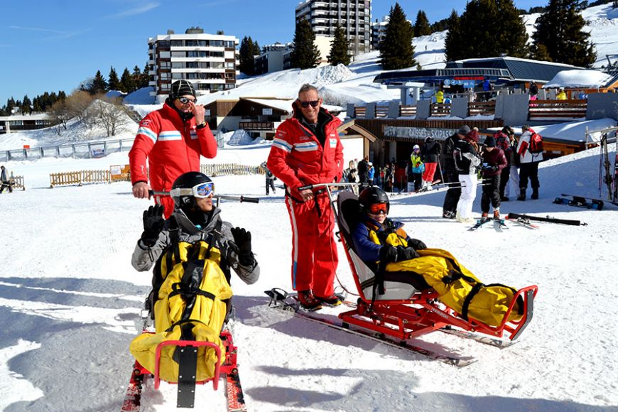 Handi-ski Évasion 2018 Photos © D.R. Julie CHANTAL - Association Robert-Debré